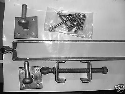 Adjustable five bar field gate hanging set galvanised
