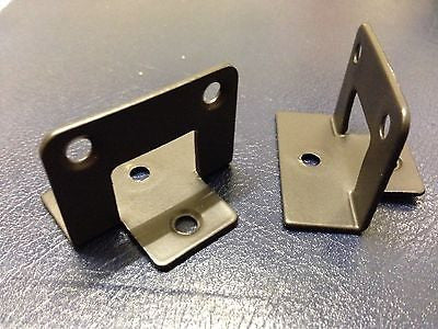 one pair trellis fence panel half bracket clips 47 mm wide brown powder coated