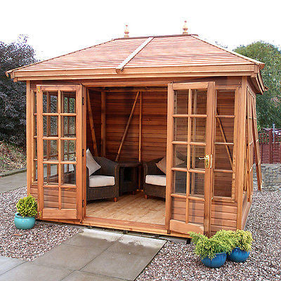 The Tudor Summerhouse from Malvern Collection - Cedar cladding + Slatted Roof