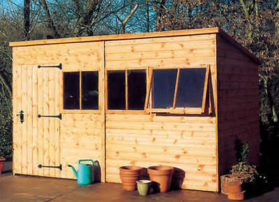 MALVERN HEAVY DUTY PENT DEAL CEDAR TREATED GARDEN SHED DELIVERED & ERECTED