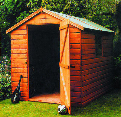 The Malvern Collection Bewdley Apex garden shed delivered and installed