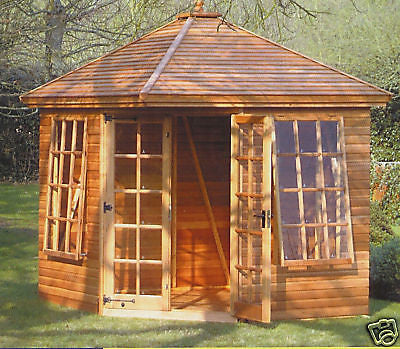 7'8x7'8 Cedar Martley Summerhouse Delivered & Erected