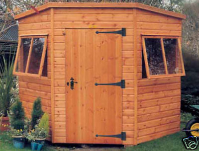 "6'8"" x 6'8"" Worcester Corner Heavy duty Garden Shed Delivered free within UK mainland"