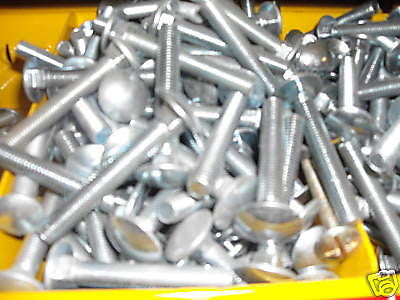 M10 x 65 cup square bolt with nut zinc plated