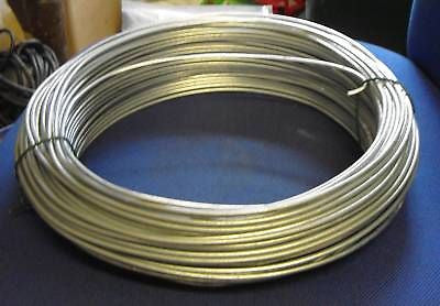 Fence Galvanised Line wire 5m  roll - 3.15mm chainlink