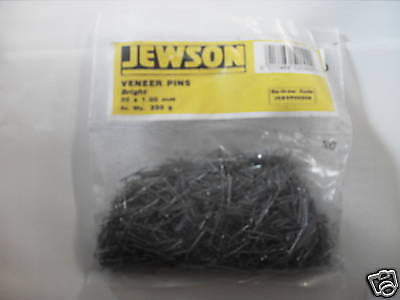 Jewson 20mm Bright Vaneer Pins 250gm bag panel pin
