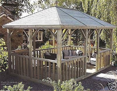 14' X 12' HANBURY Summerhouse Delivered & Erected
