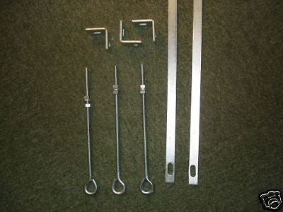 2x 4ft stretcher bars 3x 10mm eyebolts, 3x angle cleats