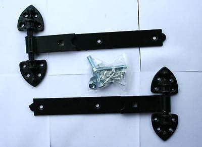 "12"" Black Reversible Hinges Fittings Included"