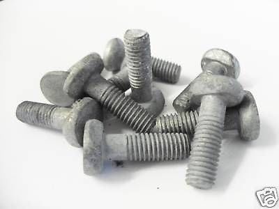 STEEL PALISADE M8 'T' Head Bolts for 'W' section. 10X