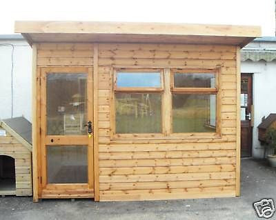 10 39 x 6 39 insulated garden office delivered erected for Insulated garden office