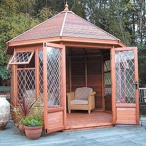 10' x 10' GAZEBO IN CEDAR WOOD Delivered & Erected