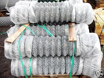 1.2m high x 25m roll Galvanised chainlink mesh fence