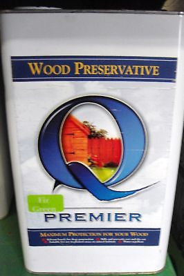 Premier Q Wood preservative 5L Fir Green paint stain
