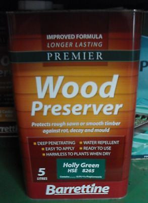 Wood preserver 5L Holly Green paint protect stain