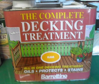 2.5L All in one decking treatment CLEAR protect stain