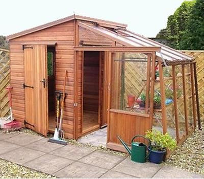 Garden Retreat QUALITY COMBINATION SHED & GREENHOUSE DELIV. & ERECTED