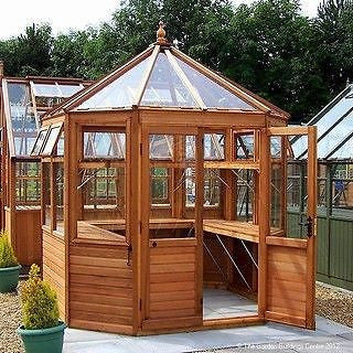 VERY ATTRACTIVE CEDAR GREENHOUSE DELIVERED & ERECTED FREE VARIOUS SIZES
