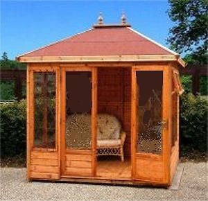 10' x 10' Tudor Summerhouse Delivered Erected Free
