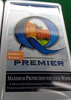 Premier Q Wood preservativ 5L Golden Brown  paint  solvent oil based stain