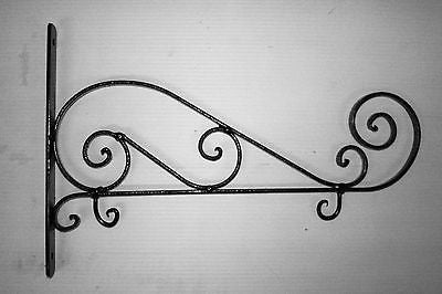 Handmade Wrought Iron Sign Holder Black