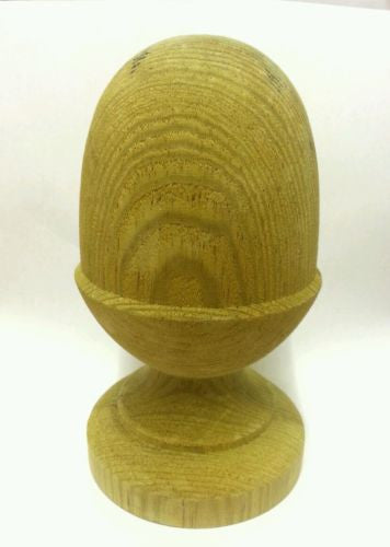 Treated Wooden Acorn Finial for 4ins posts
