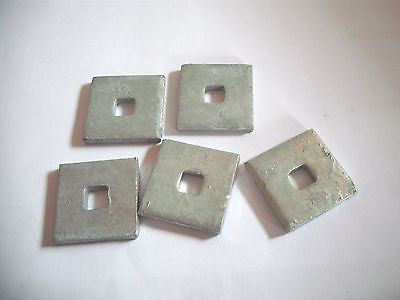 5 number Expamet 35 mm x 35 mmx 5mm  plate washers fixings heavy iron galvanised