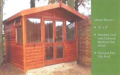 Garden Studio Apex Office Summerhouse Delivered & Erected Insurance Storm Claim