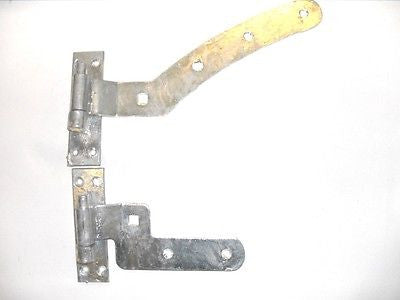 Curved rail hinge sets galvanised  gate door arched top panel left hand