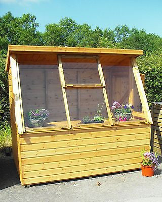Midland portable building Solar Potting shed deal pressure treated cedar erected