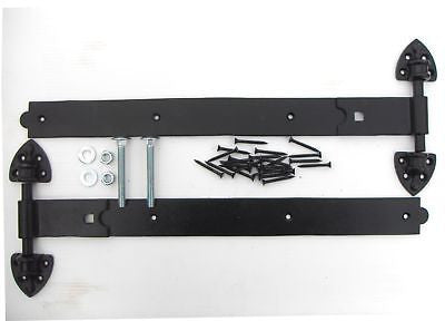 "20"" Black Reversible Hinges Fittings Included stable"