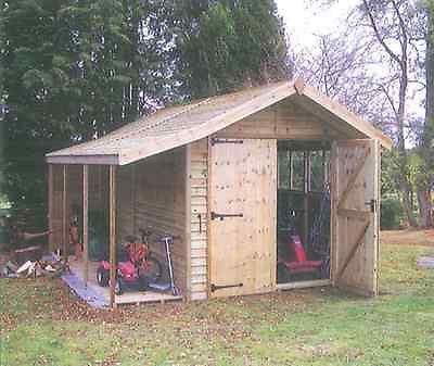 MPB Stanford Utility Shed with log store side shelter  Insurance or Storm Claim