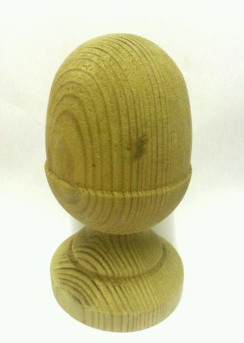 Treated Wooden Acorn Finial for 3ins posts