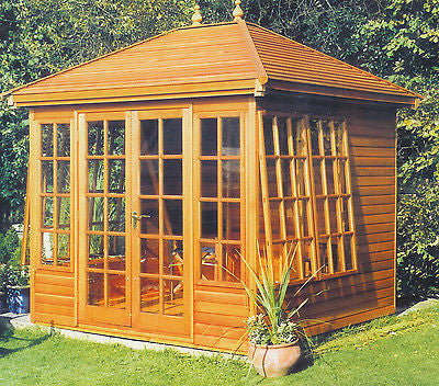 8' x 8' Cedar Tudor Summerhouse Delivered & Erected