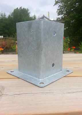 101 Mm Bolt Down Fence Post Support Galvanised For 100 X