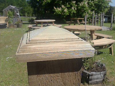 "Temple post cap for 4"" fence posts decking tops"