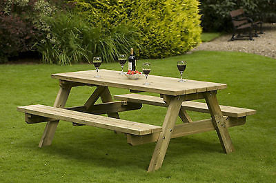 1800 mm Banquet Picnic Table for Pubs, clubs, & Home Garden woodland park