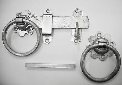 "Plain ring latch 6"" galvanised for gates and doors"