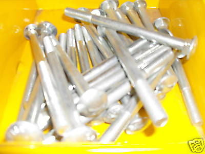 M10 x 130 cup square bolt with nut zinc plated