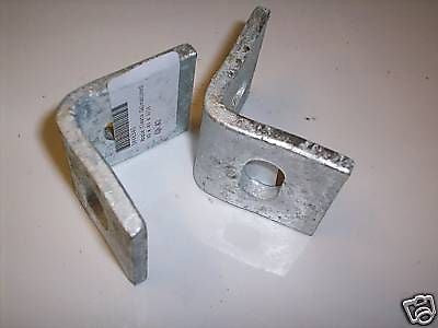 2 x 40mm Galvanised angle cleats