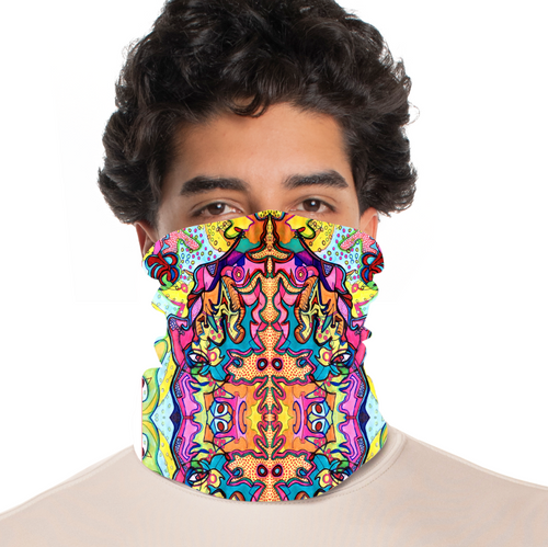 rtribz Neck Gaiter / Face Cover - Mascara