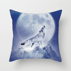 Animal Painting Cushion Cover Throw Pillow Case