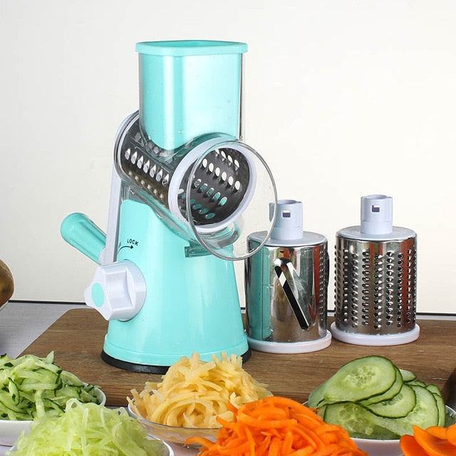 Manual Vegetable Spiral Slicer Chopper