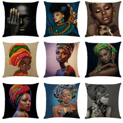 Pillow Covers Cushion of African Women