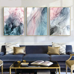 Colorful Ink Abstract Wall Art Canvas