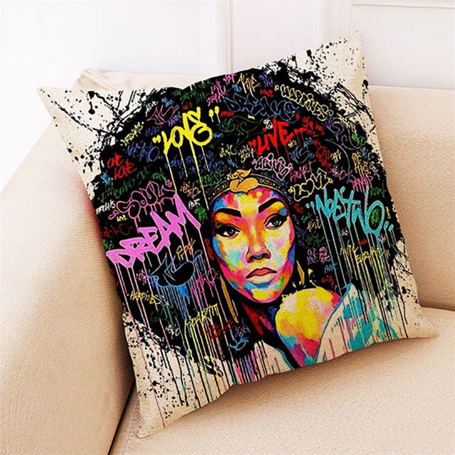 African Women Fashion Pillowcase