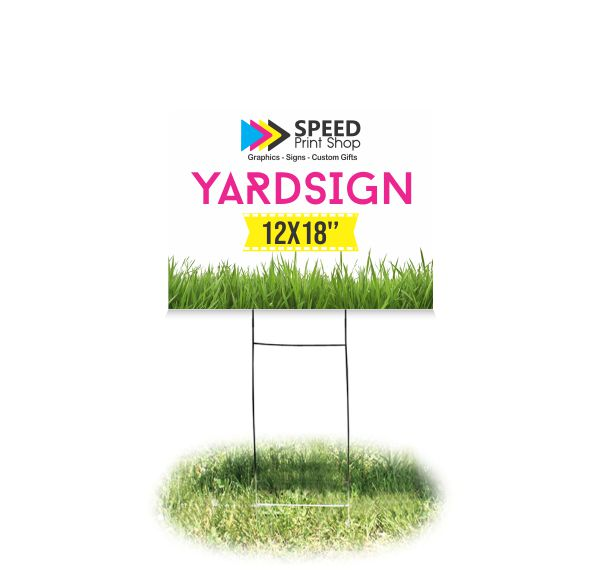 Yard Sign Coroplast Color 12×18""