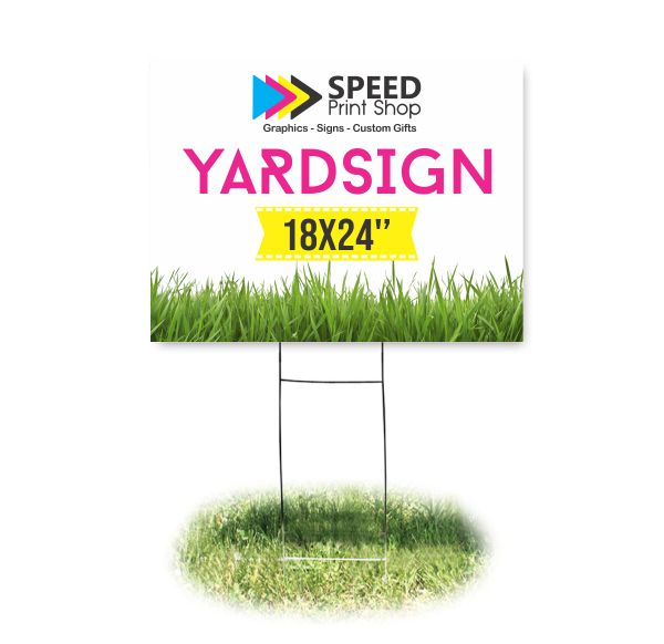 Yard Sign Colorplast Color 18×24""