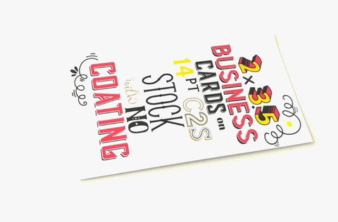 PROMOTIONAL Business Card 14 pt printing both sides 4/4 colors