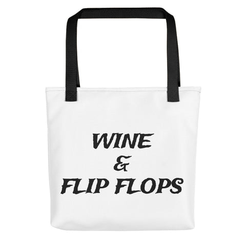 Clique + Clique Wine and Flip Flops Tote Bag